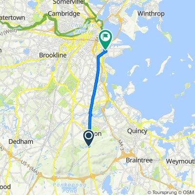 802–898 Randolph Ave, Milton to 304 W Third St, Boston