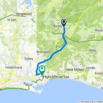 Holmehurst Cottage, Bennetts Lane, Ringwood to 2 Edward Road, Christchurch