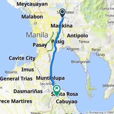Moscow Street 36, Marikina to South Luzon Expressway, Biñan