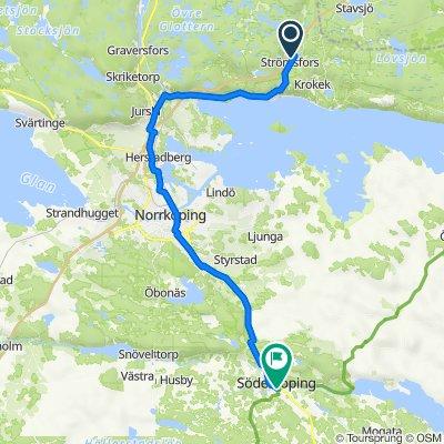 Gamla Stockholmsvägen 508, Kolmården to Margaretagatan 19, Söderköping