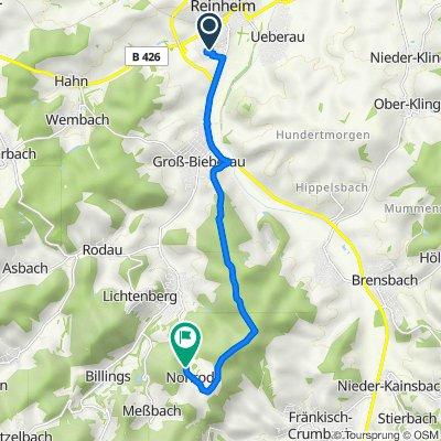Breslauer Straße 5, Reinheim nach Rodensteiner Straße 16, Fischbachtal