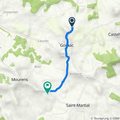 De D228, Gornac à D227, Mourens