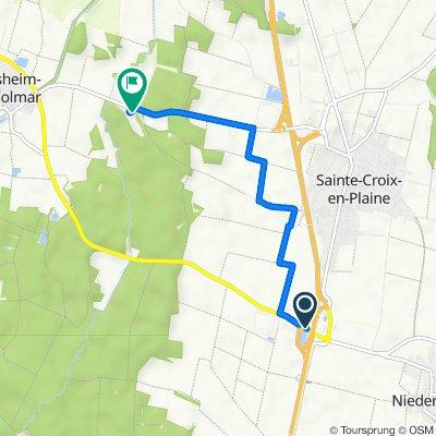 De Rue des Alpes 5001F, Niederhergheim à D1, Sainte-Croix-en-Plaine