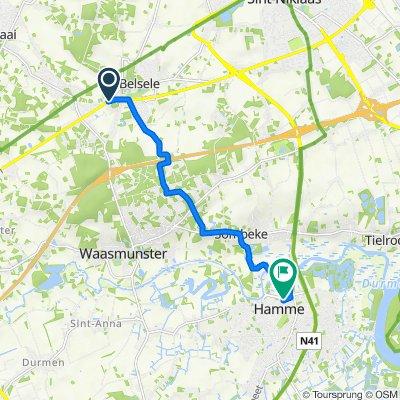 Belseledorp 229 naar Roodkruisstraat 46, Hamme