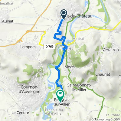 De 12 Chemin du Champ des Poix, Pont-du-Château à 2 Rue des Charmes, Pérignat-sur-Allier