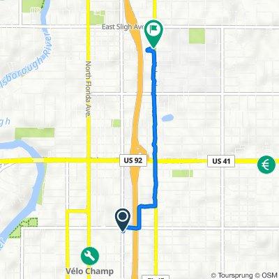 4711 N Central Ave, Tampa to 6706 N Nebraska Ave, Tampa