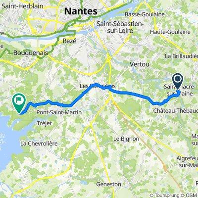 De 17 Rue Sophie Trébuchet, Saint-Fiacre-sur-Maine à 6 Place du Lac de Grand-Lieu, Saint-Aignan-Grandlieu