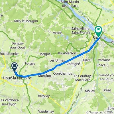 De Route des Blanchisseries, Doué-en-Anjou à Rue Beaurepaire 27, Saumur