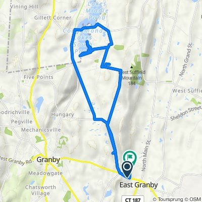 56 Turkey Hills Rd, East Granby to 10 Metacomet Dr, East Granby