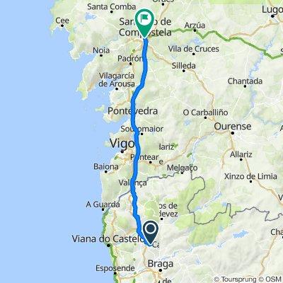De União das freguesias da Ribeira do Neiva a Compostela, Galiza