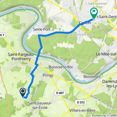 De 13 Rue des Fontaines, Saint-Sauveur-sur-École à 26 Rue Pasteur, Vert-Saint-Denis