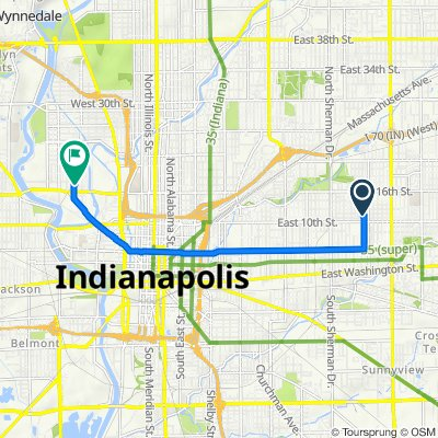 1116 N Drexel Ave, Indianapolis to 1701 Gent St, Indianapolis