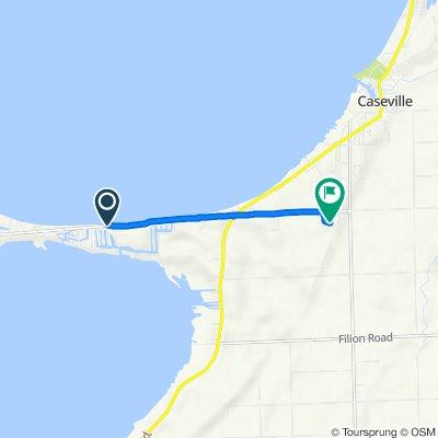 8896 Crescent Beach Rd, Pigeon to 7275 Crescent Beach Rd, Pigeon
