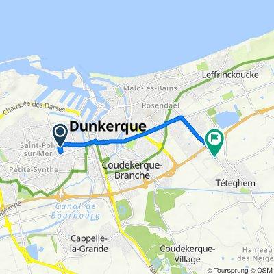De 12 Rue Jean Bart, Saint-Pol-sur-Mer à 118 Route du Chapeau Rouge, Téteghem