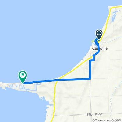 6400 Main St, Caseville to 8900 Shoshoni Pass Dr, Pigeon