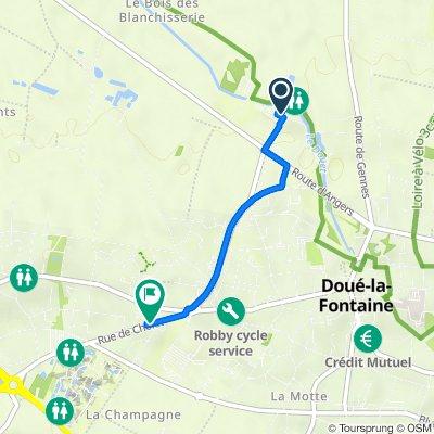 De Route des Blanchisseries, Doué-en-Anjou à Rue de Cholet 94B, Doué-en-Anjou