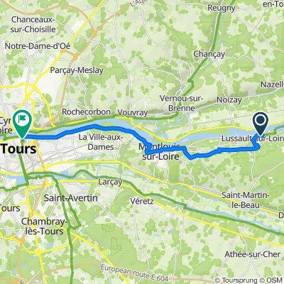 De Route de Tours, Lussault-sur-Loire à 19 Rue Lavoisier, Tours