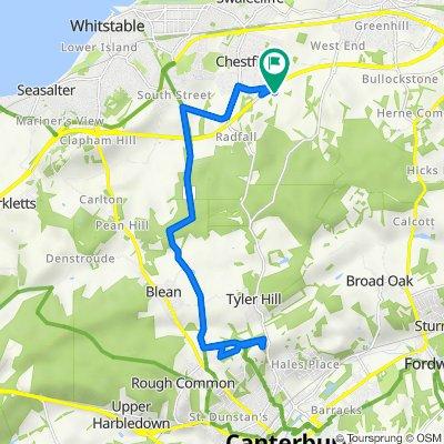 Crow Park Farm, Molehill Road, Whitstable to Fairway Barn, Molehill Road, Whitstable