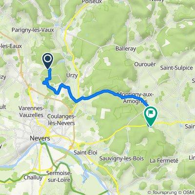 De Urzy à Les Haies de ville 94, Saint-Jean-aux-Amognes