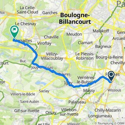 Itinéraire à partir de 33 Rue Louis Blériot, Wissous