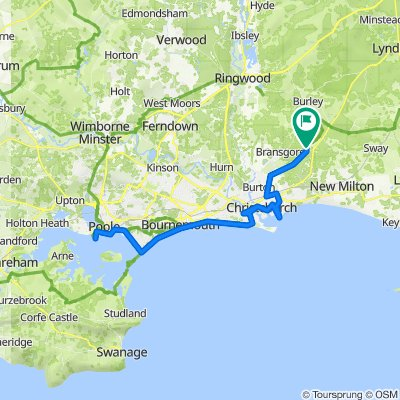 To Poole Harbour follow Route 2