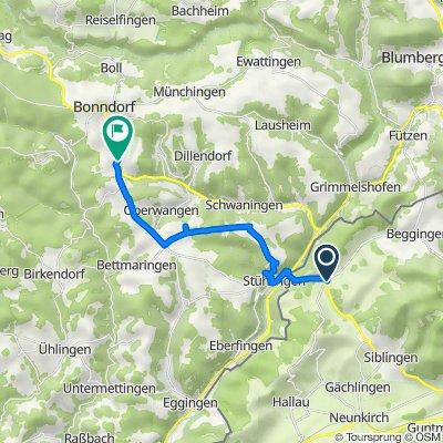Schaffhauserstrasse 1, Schleitheim nach Konstantin-Fehrenbach-Straße 6, Bonndorf im Schwarzwald