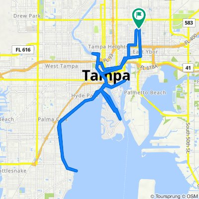 3514 N 21st St, Tampa to 3516 N 21st St, Tampa