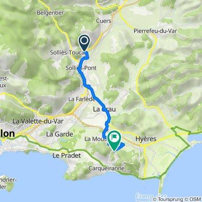 De 7 Avenue Joseph d'Arbaud, Solliès-Pont à Route du Vallon, Hyères