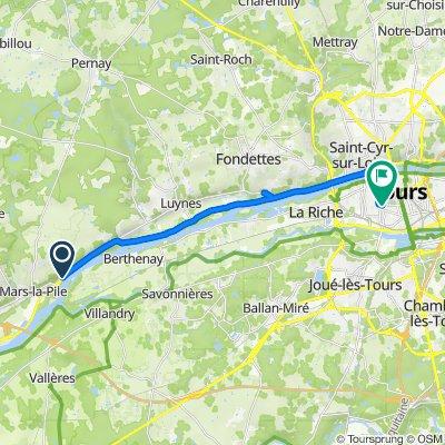 De 1B–3 Rue de l'Ancienne Poste, Cinq-Mars-la-Pile à 11 Rue de Margueron, Tours