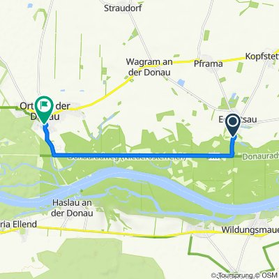 Route von Schloß 1, Eckartsau