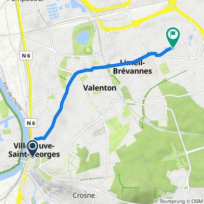 De 37 Avenue des Fusillés, Villeneuve-Saint-Georges à 24bis Avenue du 8 Mai 1945, Limeil-Brévannes