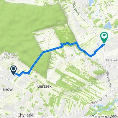Prowansji 8F, Piaseczno koło Warszawy do Warszawska 106, Bielawa