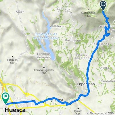 De Camino al Pantano de Santa María de Belsué, Loporzano a Calle del Padre Querbes, 4, Huesca