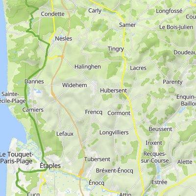 De 27 Allée du Bosquet, Neufchâtel-Hardelot à 2 Rue Sueur, Alette