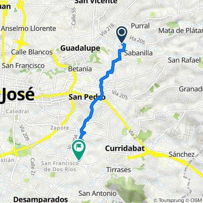 De Caminito de La Cuarta, San José a Calle 55, San José