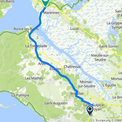 De Lotissement les Jardins de Jaffe 8, Saint-Sulpice-de-Royan à Route de Bourcefranc, Marennes-Hiers-Brouage