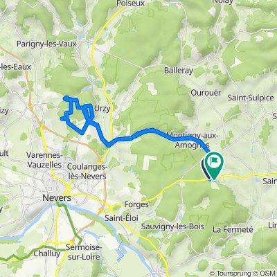 De D978, Saint-Jean-aux-Amognes à Les Haies de ville 94, Saint-Jean-aux-Amognes