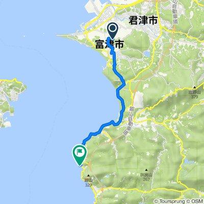 2848, Shimoiino, Futtsu to 4313-1, Kanaya, Futtsu