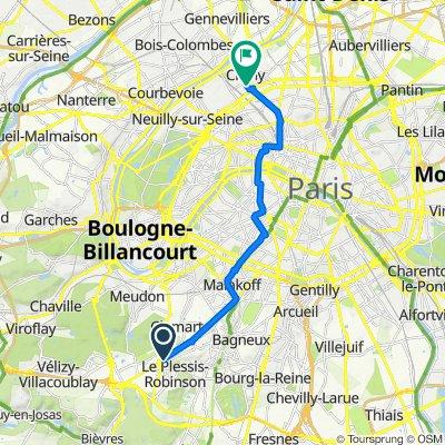 De 233 Avenue du Général de Gaulle, Clamart à 34 Rue de Paris, Clichy