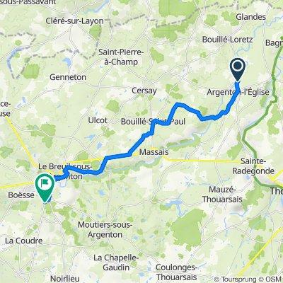 De Allée des Pêcheurs, Argenton-l'Église à D748, Argenton-les-Vallées