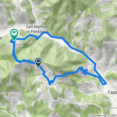 Via della Pieve Santo Stefano 6353, Lucca nach Via di Castagnara 1490, Lucca