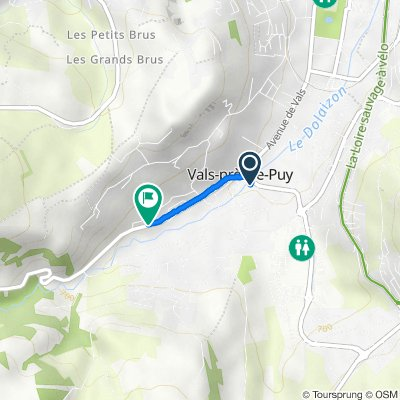 De 2A Avenue Charles Massot, Vals-près-le-Puy à 14bis Avenue des Droits de l'Homme, Vals-près-le-Puy