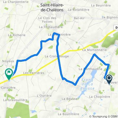 De La Favrie 1, Sainte-Pazanne à La Maison Bertin 3, Saint-Hilaire-de-Chaléons