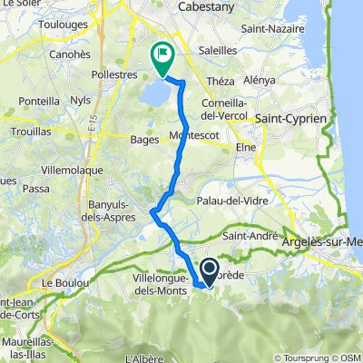Itinéraire à partir de 22 Route du Moulin Cassanyes, Laroque-des-Albères