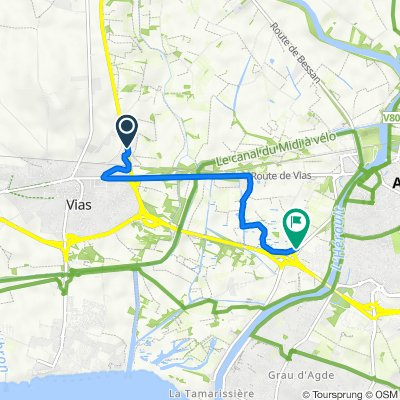 Itinéraire vers Chemin du Neuf Agde à La Tamarissière, Agde