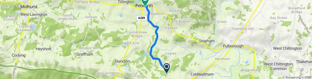 Oak Tree Cottage, Bignor Park Road, Pulborough to The Granary, Middle St, Petworth