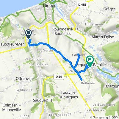 Route naar 3 Route d'Aubermesnil, Arques-la-Bataille