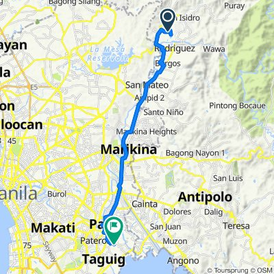 Unnamed Road, Rodriguez to G3RM+6RQ, Taguig