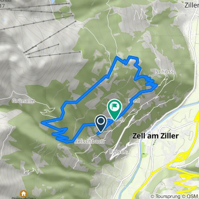Zellberg 190, Zellberg nach Zellberg 208, Zellberg