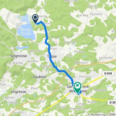 De 551 Route de l'Étang Blanc, Soustons à 2 Impasse du Marais, Saint-Vincent-de-Tyrosse
